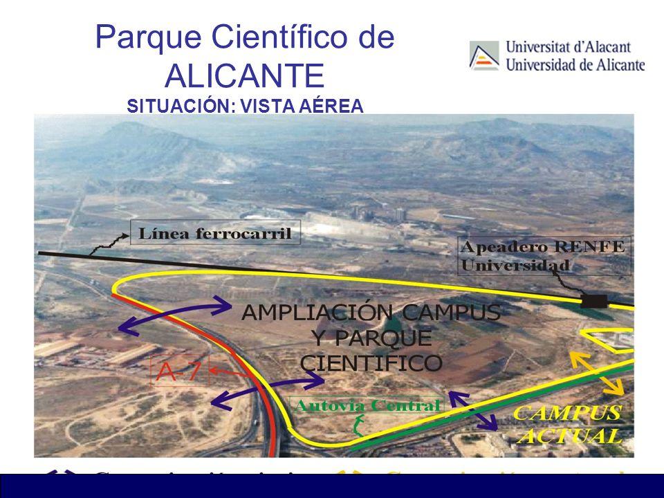 Parque Científico de ALICANTE SITUACIÓN: VISTA AÉREA