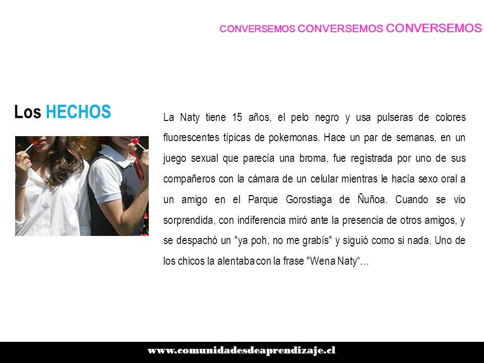 Los HECHOS Una quinceañera de un colegio de curas ABC1 practica sexo oral en un parque con un compañero.