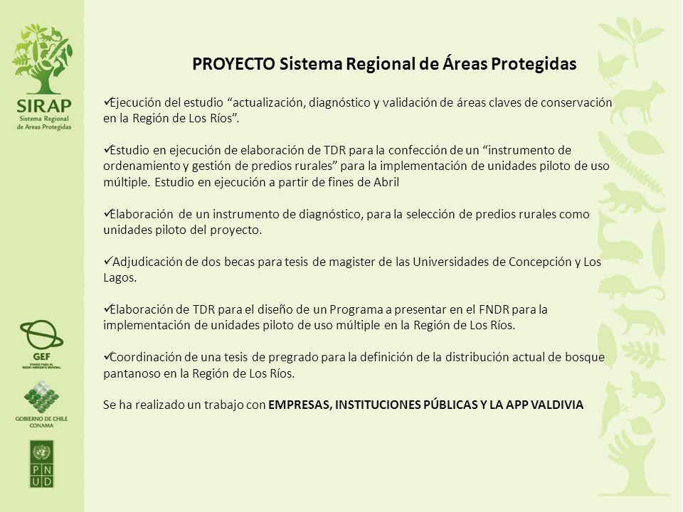 PROYECTO Sistema Regional de Áreas Protegidas Ejecución del estudio actualización, diagnóstico y validación de áreas claves de conservación en la Regi