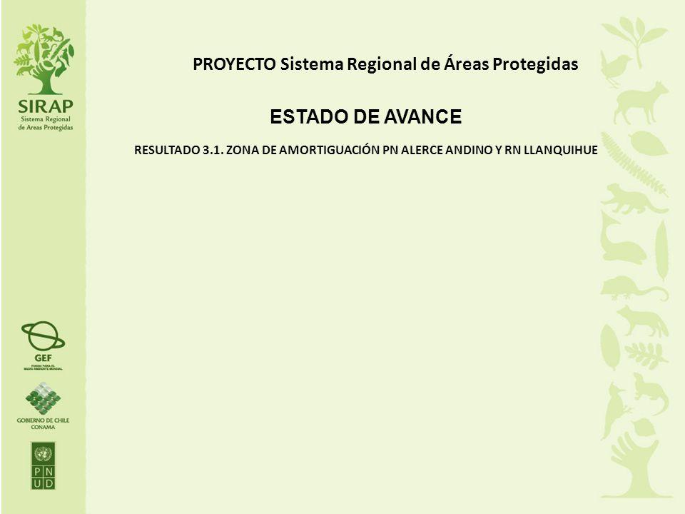PROYECTO Sistema Regional de Áreas Protegidas ESTADO DE AVANCE RESULTADO 3.1. ZONA DE AMORTIGUACIÓN PN ALERCE ANDINO Y RN LLANQUIHUE