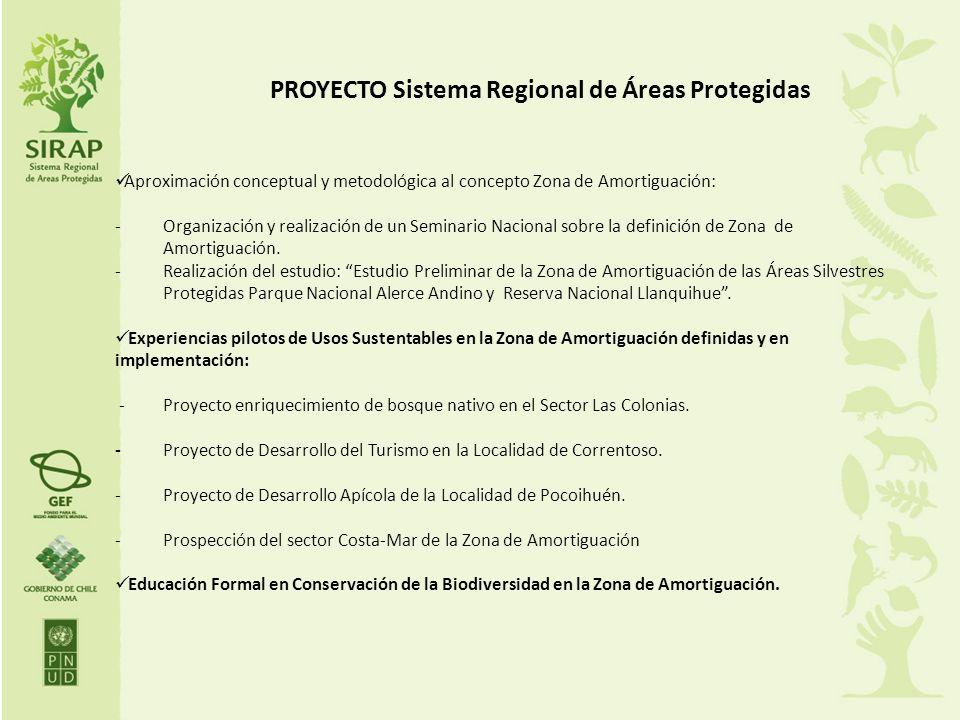 PROYECTO Sistema Regional de Áreas Protegidas Aproximación conceptual y metodológica al concepto Zona de Amortiguación: - Organización y realización d