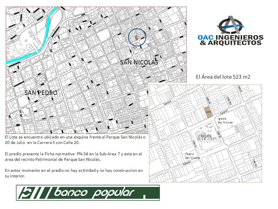 NORMATIVA - MEMORIA Código de polígono normativo: PN-34-RRH Sub Área 7: Esta conformada por los Recintos patrimoniales Parque de San Nicolás.