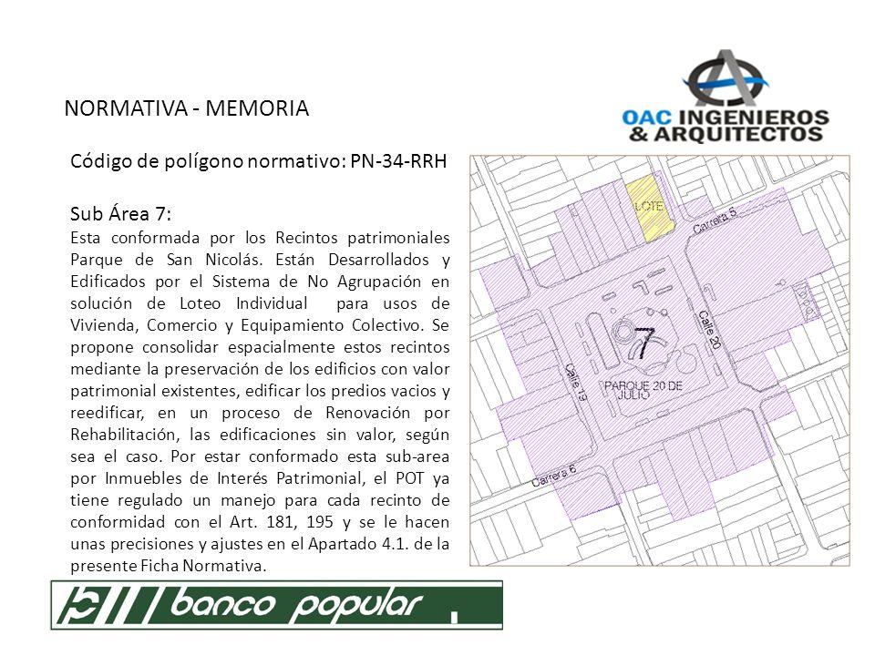 NORMATIVA - MEMORIA P.O.T.