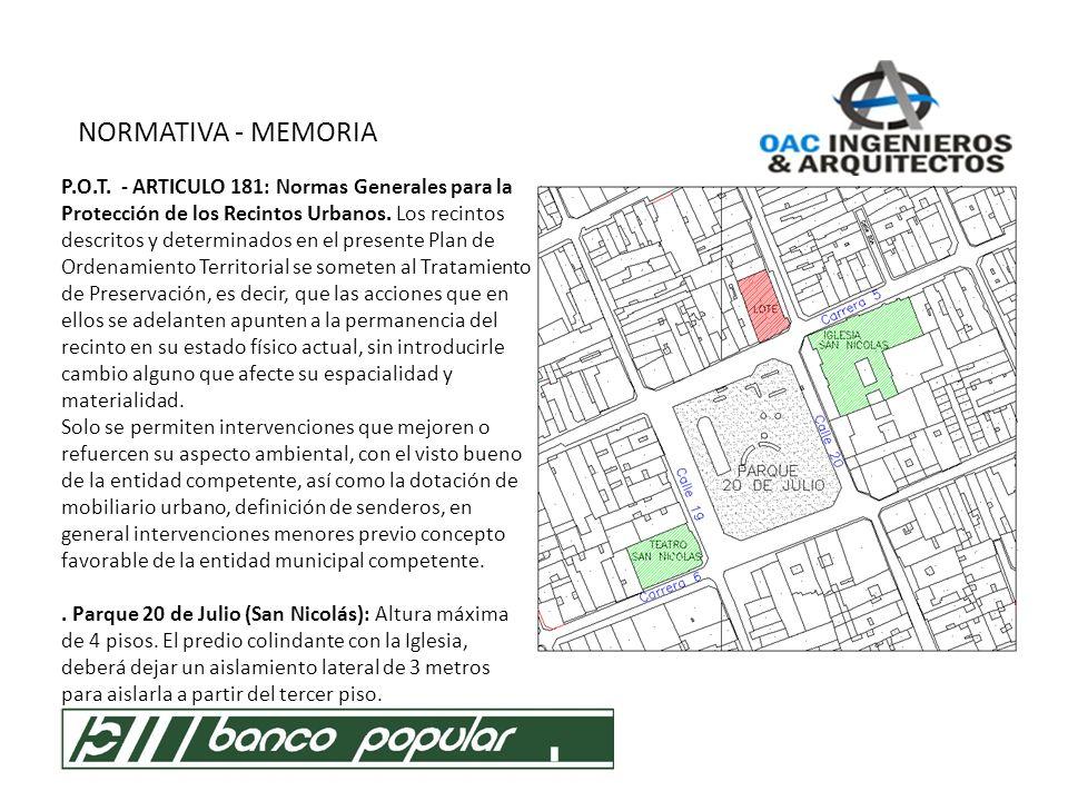 NORMATIVA - MEMORIA 1.1.AREA DE ACTIVIDAD * Area de Actividad Económica Predominante.