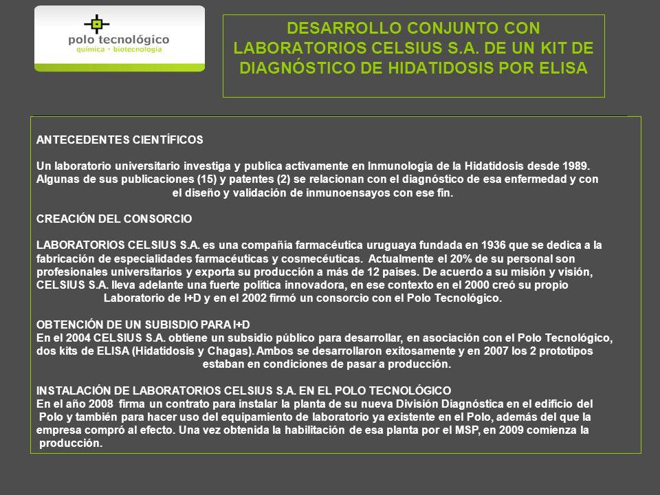 DESARROLLO CONJUNTO CON LABORATORIOS CELSIUS S.A.