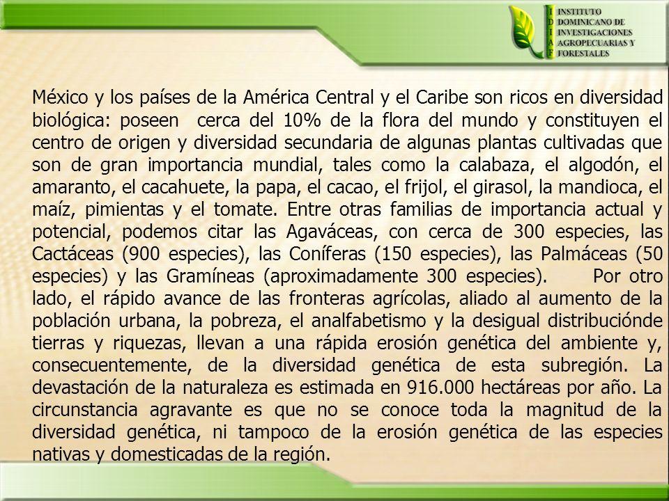 México y los países de la América Central y el Caribe son ricos en diversidad biológica: poseen cerca del 10% de la flora del mundo y constituyen el c