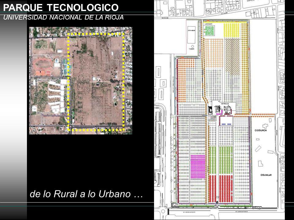 PARQUE TECNOLOGICO UNIVERSIDAD NACIONAL DE LA RIOJA de lo Rural a lo Urbano …