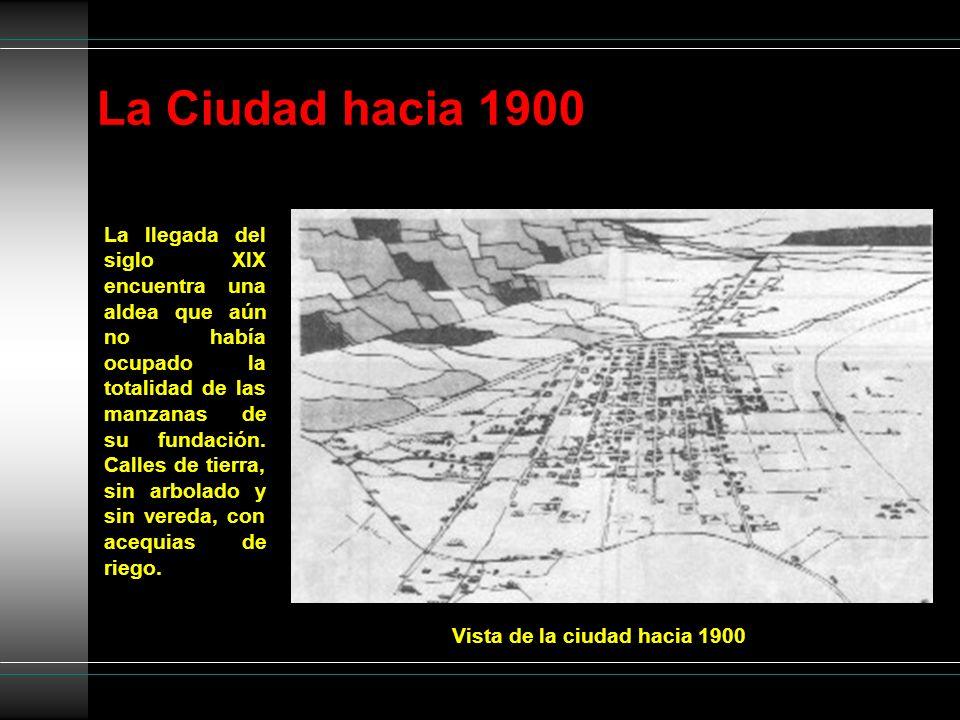 La Ciudad hacia 1900 Vista de la ciudad hacia 1900 La llegada del siglo XIX encuentra una aldea que aún no había ocupado la totalidad de las manzanas