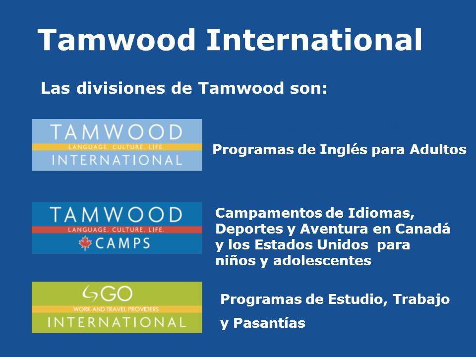 La Historia de Tamwood Fundado en 1992, Tamwood International ha crecido de un programa de ESL y una sola sede a 24 programas y 5 sedes en Canadá y los Estados Unidos Ya ha recibido más de 15.000 alumnos de más de 60 países