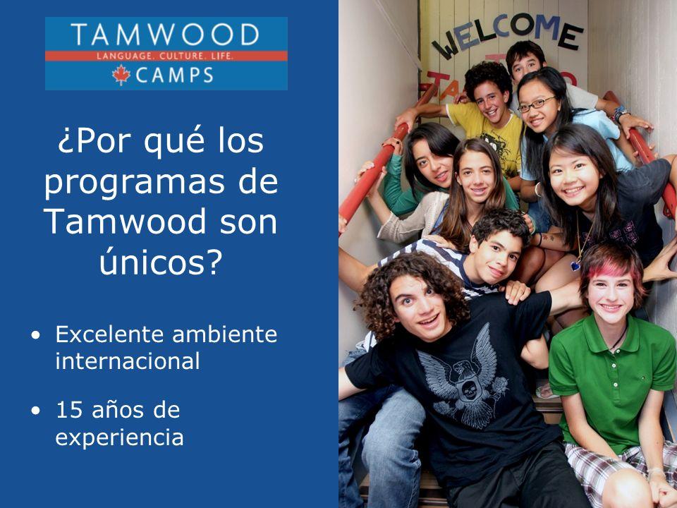 Excelente ambiente internacional 15 años de experiencia ¿Por qué los programas de Tamwood son únicos?