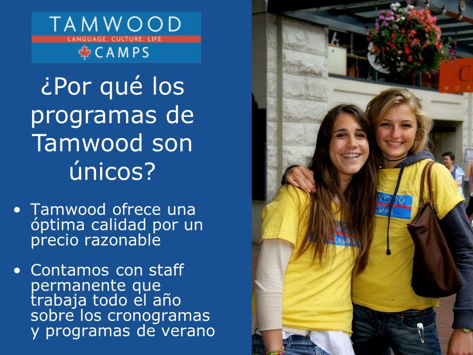 Tamwood ofrece una óptima calidad por un precio razonable Contamos con staff permanente que trabaja todo el año sobre los cronogramas y programas de verano ¿Por qué los programas de Tamwood son únicos?