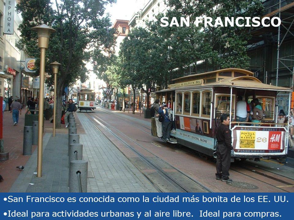 San Francisco es conocida como la ciudad más bonita de los EE.