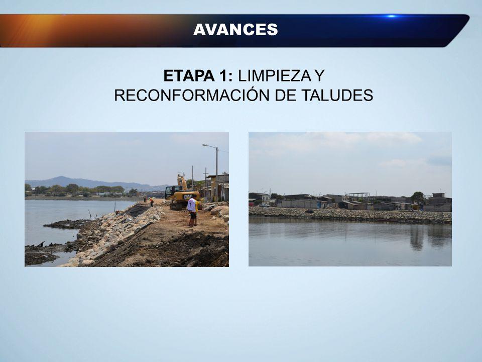 AVANCES ETAPA 1: LIMPIEZA Y RECONFORMACIÓN DE TALUDES