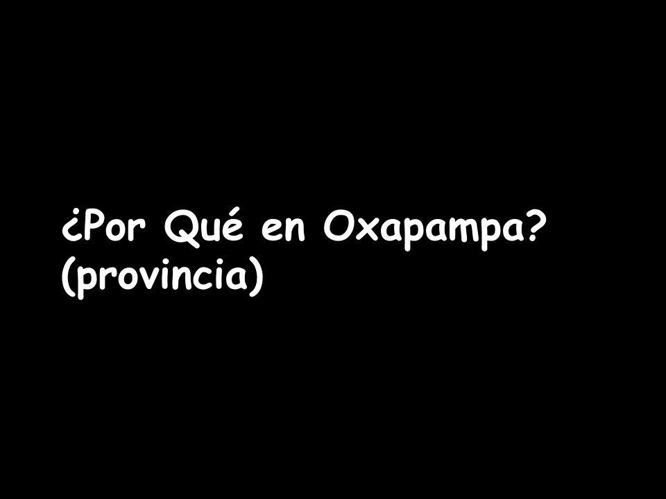 ¿Por Qué en Oxapampa? (provincia)