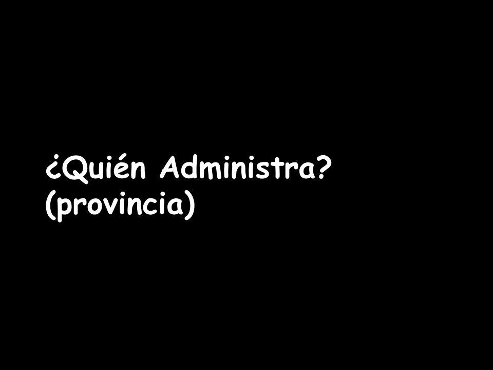 ¿Quién Administra? (provincia)