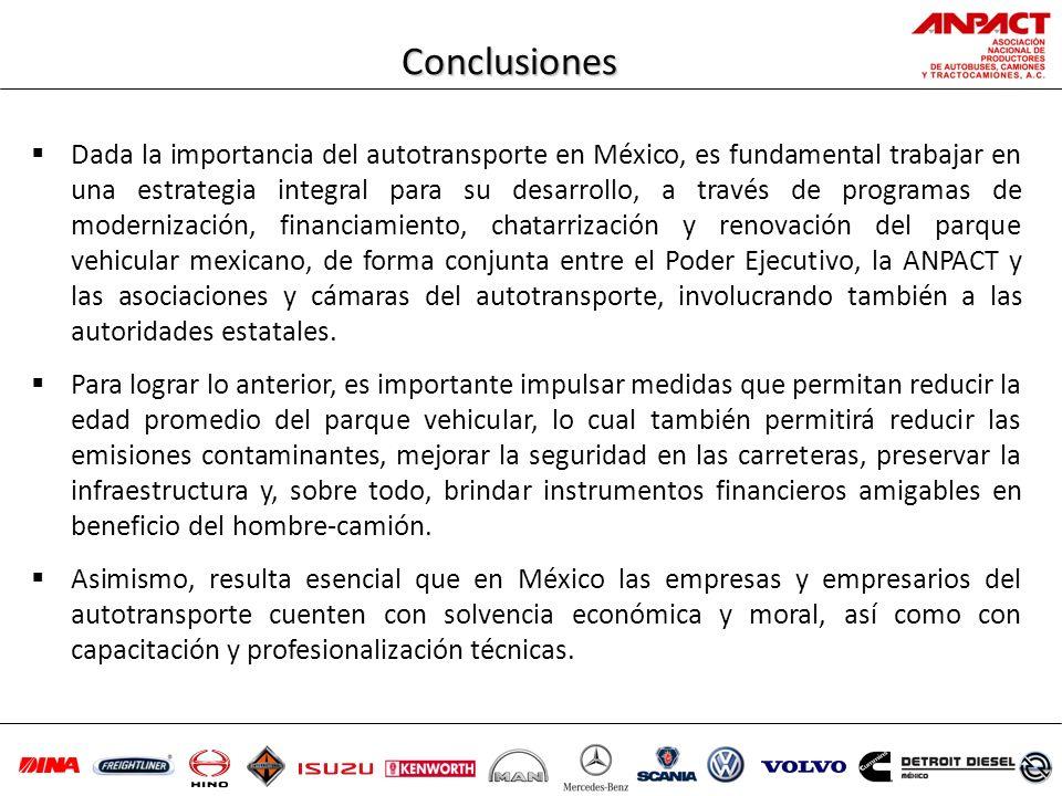 Dada la importancia del autotransporte en México, es fundamental trabajar en una estrategia integral para su desarrollo, a través de programas de mode