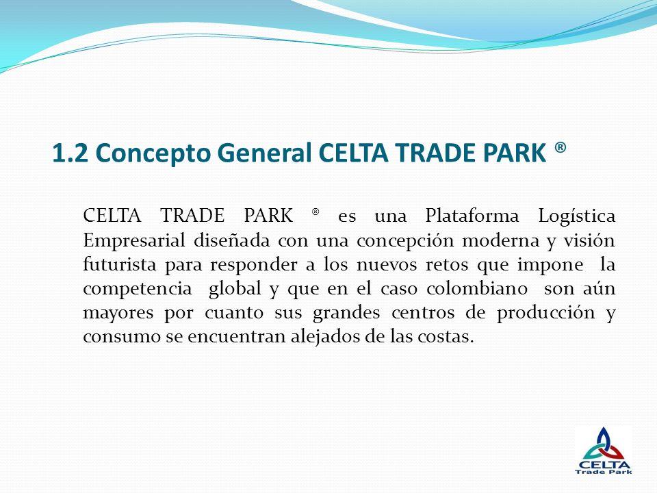 1.2 Concepto General CELTA TRADE PARK ® CELTA TRADE PARK ® es una Plataforma Logística Empresarial diseñada con una concepción moderna y visión futuri