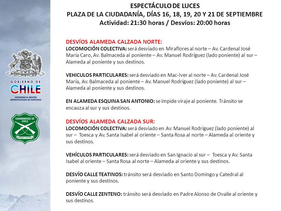 REVISTA PREPARATORIA 16 Y 17 DE SEPTIEMBRE - ELIPSE PARQUE OHIGGINS Actividad: 15.00 hrs.