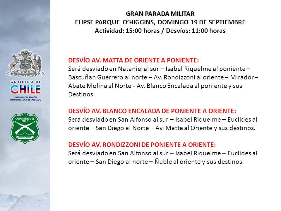 DESFILE ESCUELA MATRICES DOMINGO 19 DE SEPTIEMBRE - AV.
