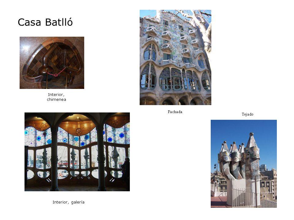 Casa Batlló Interior, chimenea Interior, galería Fachada Tejado