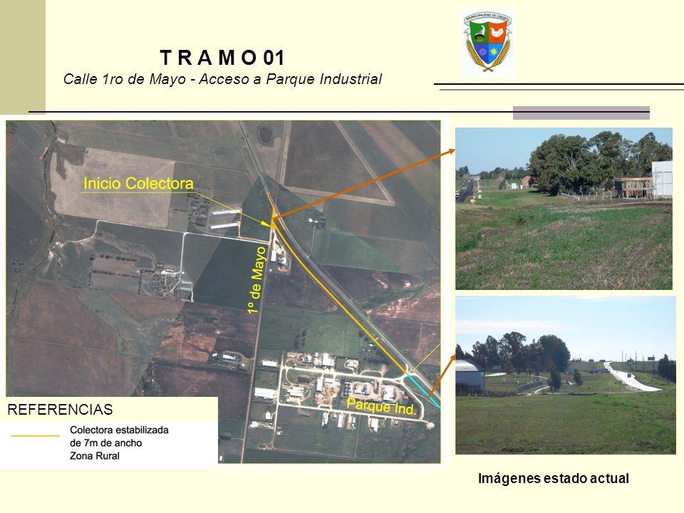 T R A M O 01 Calle 1ro de Mayo - Acceso a Parque Industrial Imágenes estado actual REFERENCIAS