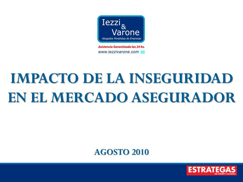 IMPACTO DE LA INSEGURIDAD EN EL MERCADO ASEGURADOR AGOSTO 2010