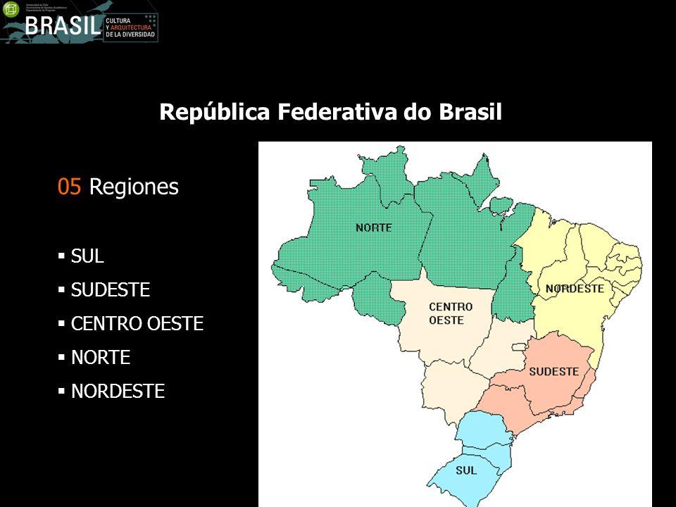 05 Regiones SUL SUDESTE CENTRO OESTE NORTE NORDESTE República Federativa do Brasil