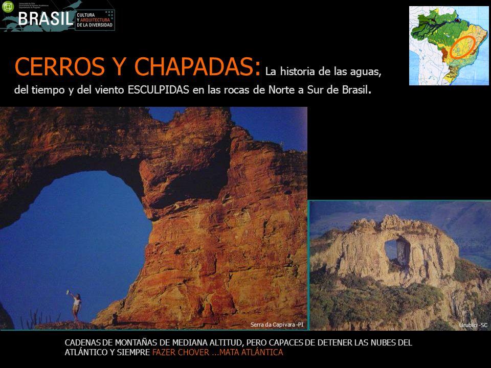 CERROS Y CHAPADAS: La historia de las aguas, del tiempo y del viento ESCULPIDAS en las rocas de Norte a Sur de Brasil. CADENAS DE MONTAÑAS DE MEDIANA