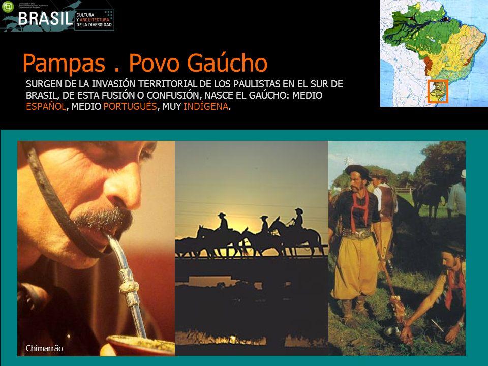 Pampas. Povo Gaúcho SURGEN DE LA INVASIÓN TERRITORIAL DE LOS PAULISTAS EN EL SUR DE BRASIL, DE ESTA FUSIÓN O CONFUSIÓN, NASCE EL GAÚCHO: MEDIO ESPAÑOL