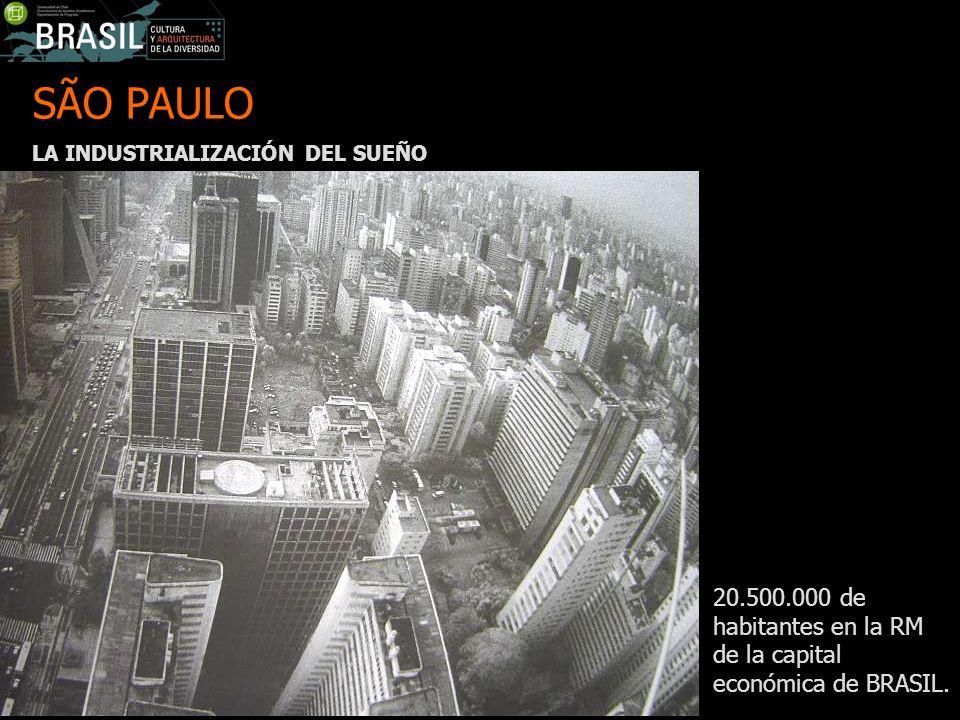SÃO PAULO LA INDUSTRIALIZACIÓN DEL SUEÑO 20.500.000 de habitantes en la RM de la capital económica de BRASIL.