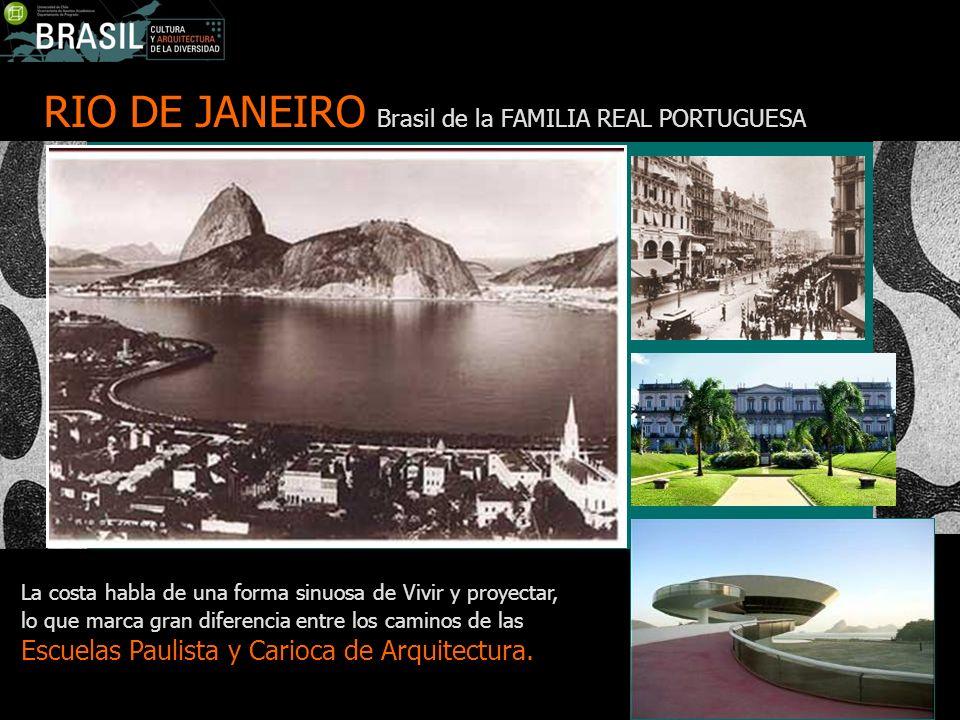 RIO DE JANEIRO Brasil de la FAMILIA REAL PORTUGUESA La costa habla de una forma sinuosa de Vivir y proyectar, lo que marca gran diferencia entre los c