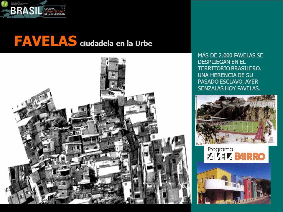 FAVELAS ciudadela en la Urbe MÁS DE 2.000 FAVELAS SE DESPLIEGAN EN EL TERRITORIO BRASILERO. UNA HERENCIA DE SU PASADO ESCLAVO, AYER SENZALAS HOY FAVEL