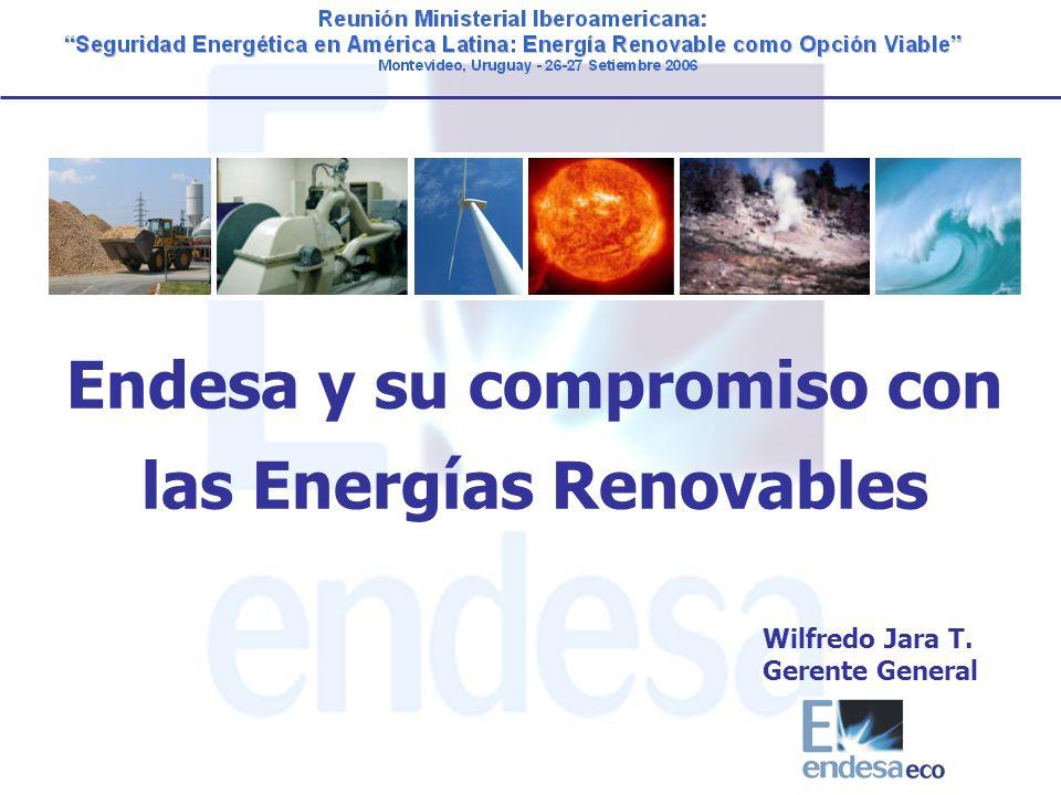 Endesa y su compromiso con las Energías Renovables Wilfredo Jara T. Gerente General