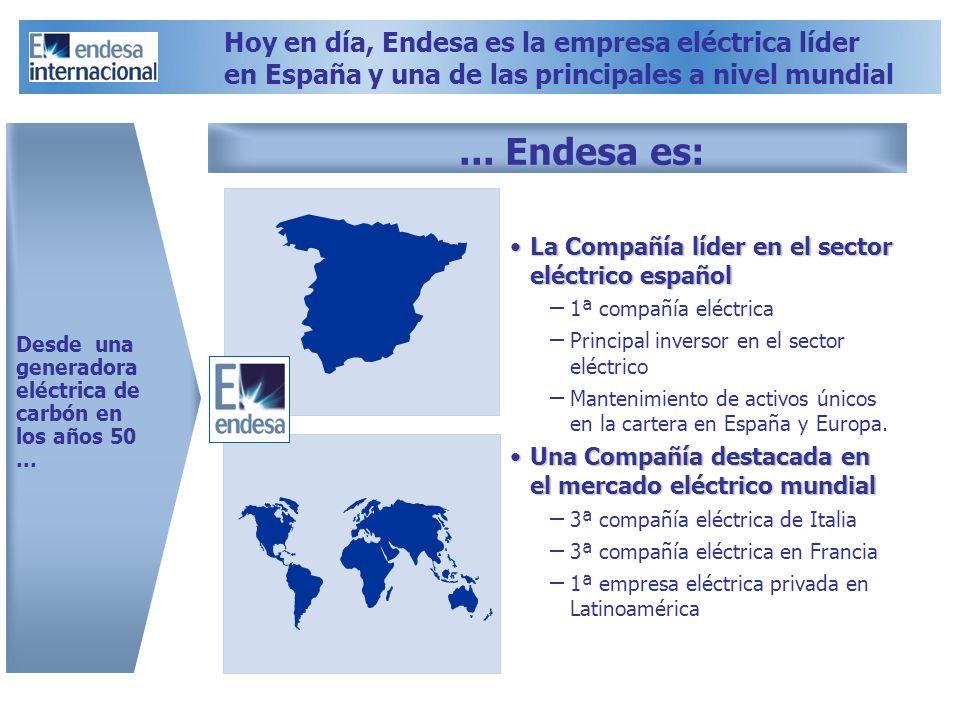 La Compañía líder en el sector eléctrico españolLa Compañía líder en el sector eléctrico español – 1ª compañía eléctrica – Principal inversor en el se