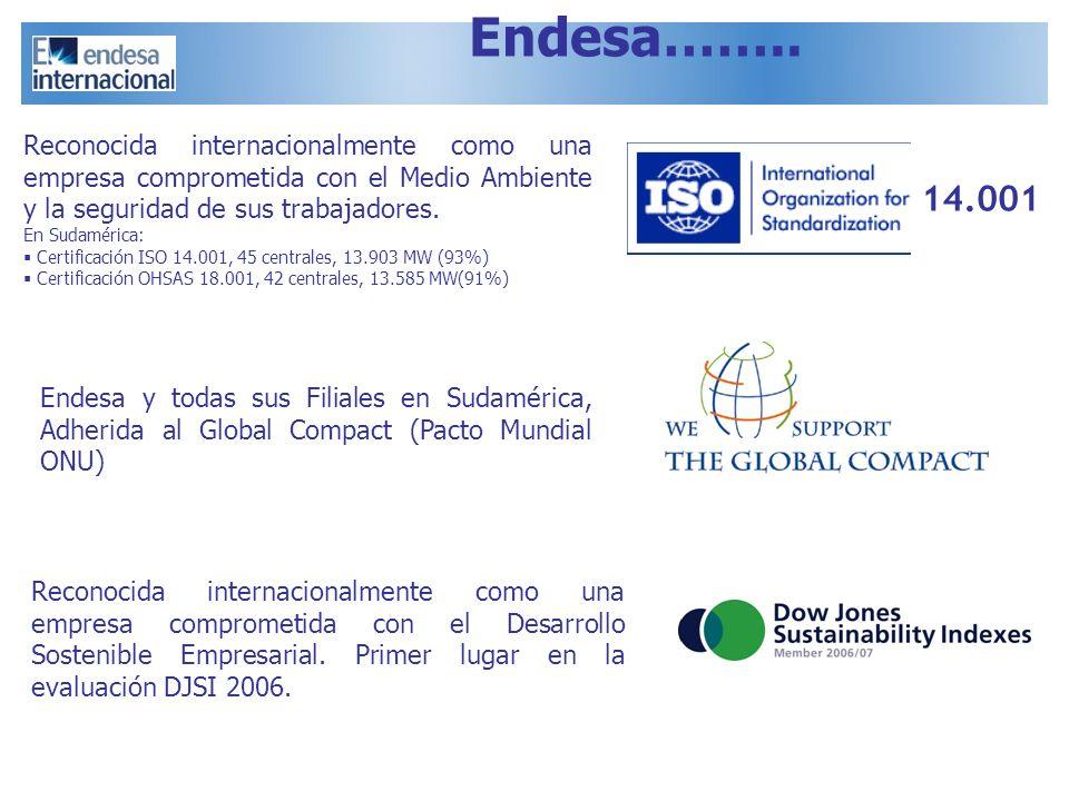 Reconocida internacionalmente como una empresa comprometida con el Medio Ambiente y la seguridad de sus trabajadores. En Sudamérica: Certificación ISO