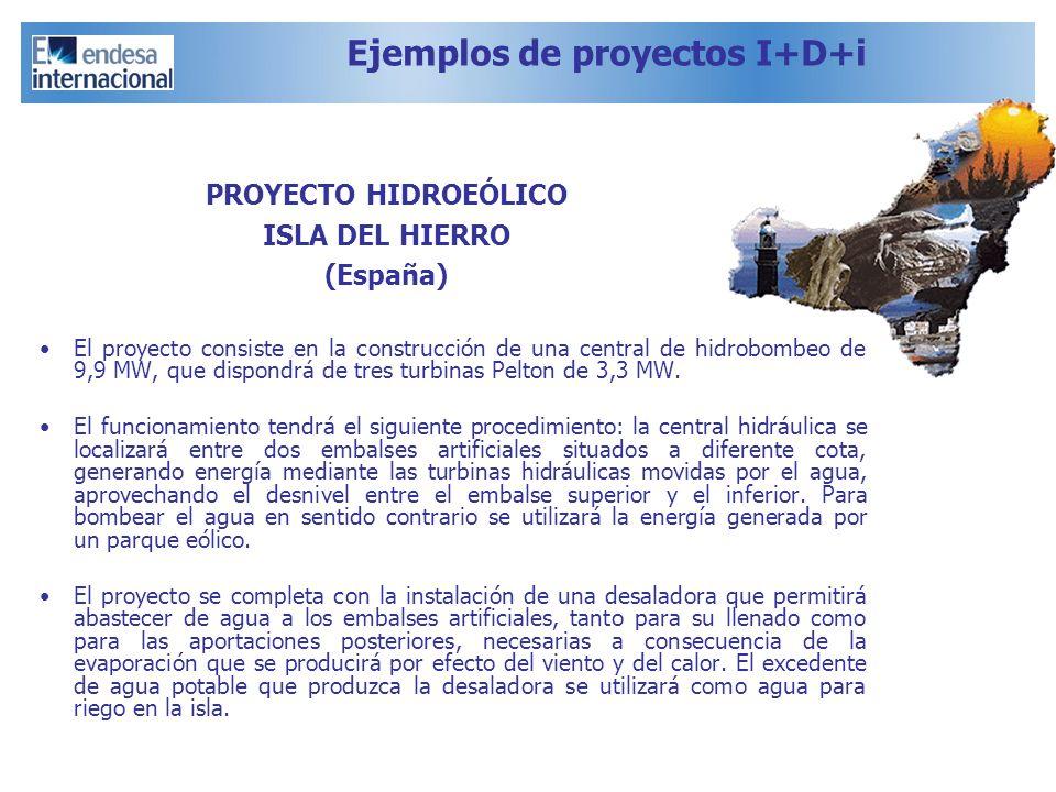 Ejemplos de proyectos I+D+i El proyecto consiste en la construcción de una central de hidrobombeo de 9,9 MW, que dispondrá de tres turbinas Pelton de
