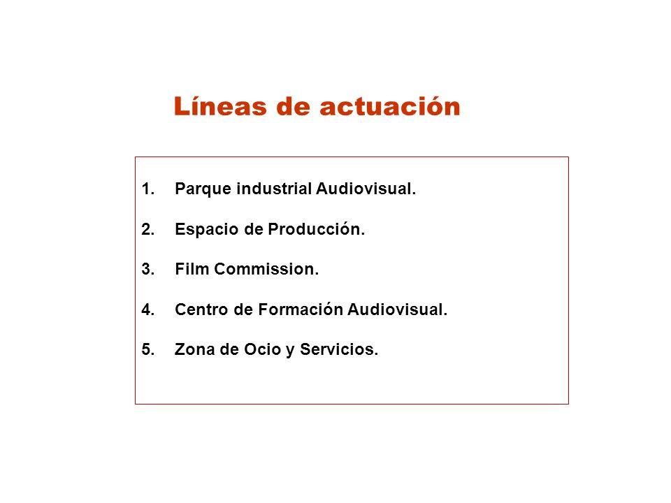 Líneas de actuación 1.Parque industrial Audiovisual.