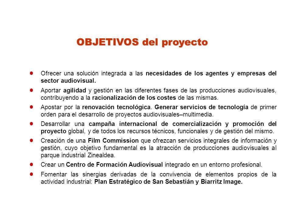 OBJETIVOS del proyecto Ofrecer una solución integrada a las necesidades de los agentes y empresas del sector audiovisual.