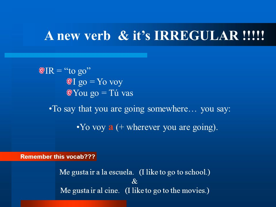 A new verb & its IRREGULAR !!!!.