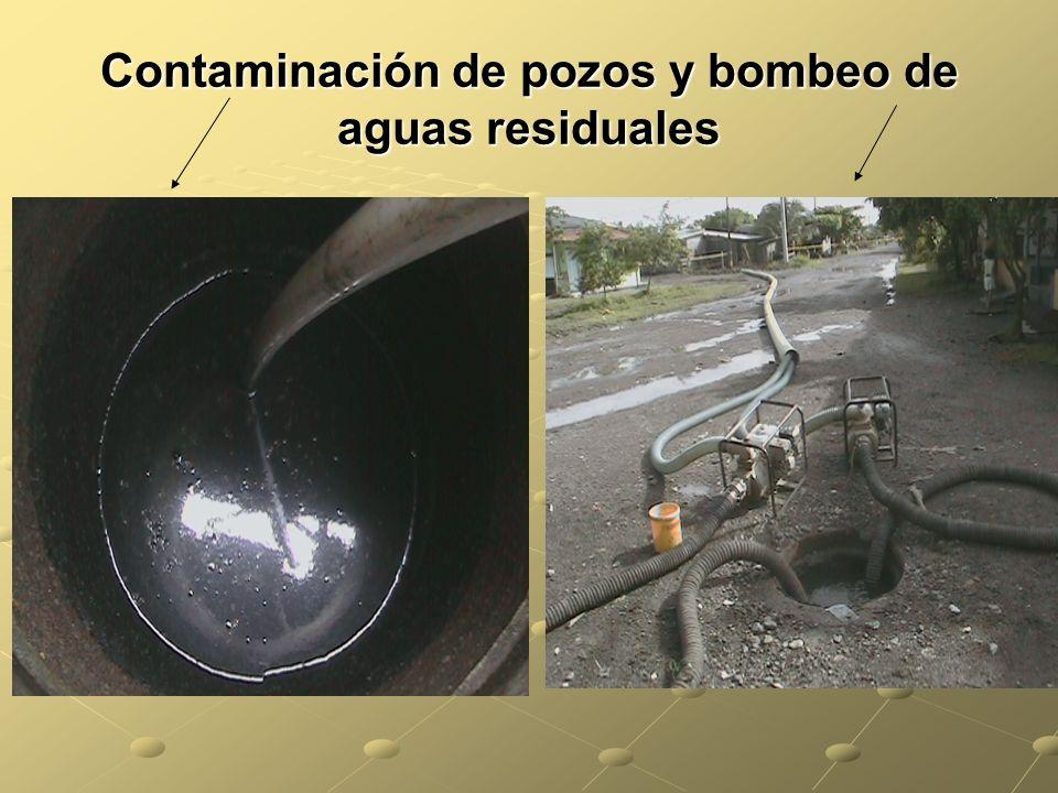 Contaminación de pozos y bombeo de aguas residuales