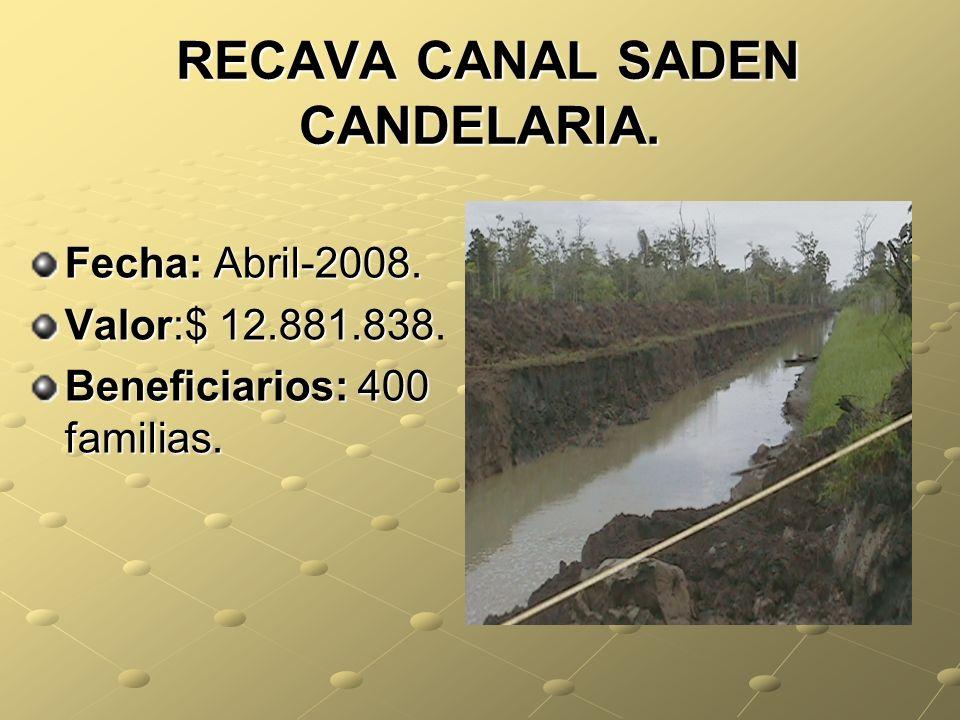 RECAVA CANAL SADEN CANDELARIA.RECAVA CANAL SADEN CANDELARIA.