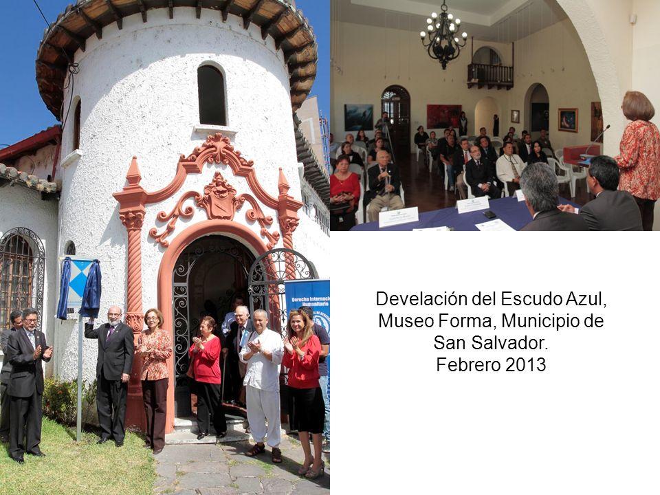 Develación del Escudo Azul, Museo Forma, Municipio de San Salvador. Febrero 2013