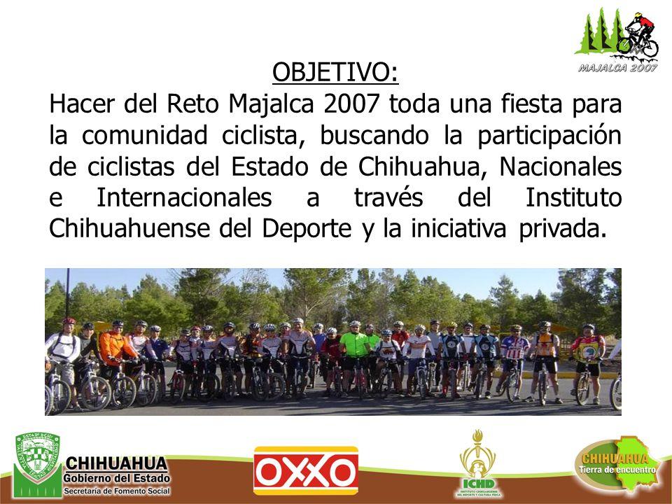 El Reto se llevara a cabo en 2 recorridos: 1.Expertos, Master 40, juveniles y Avanzados distancia a recorrer del Parque Cumbres de Majalca 76 kms.