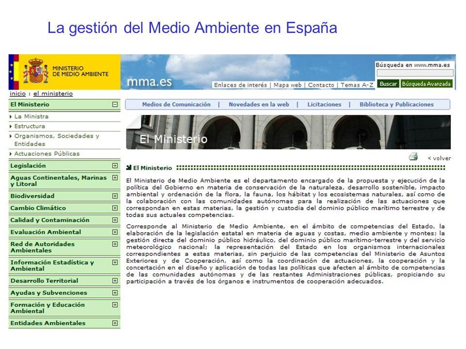 La gestión del Medio Ambiente en España