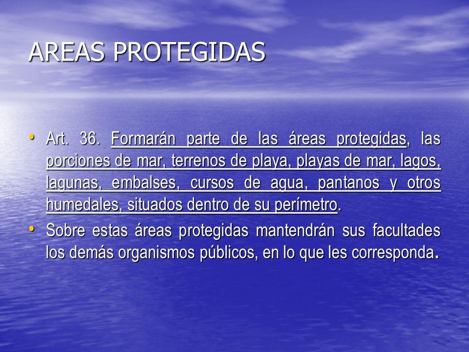 AREAS PROTEGIDAS Art.36.
