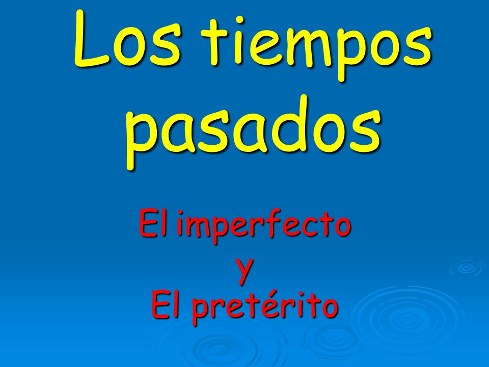 Spanish has 2 past tenses. Each is used to express different types of action in the past.