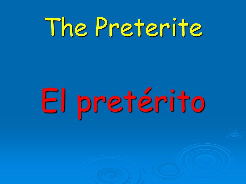 ¿El pretérito o el imperfecto.Did you hear what happened yesterday.