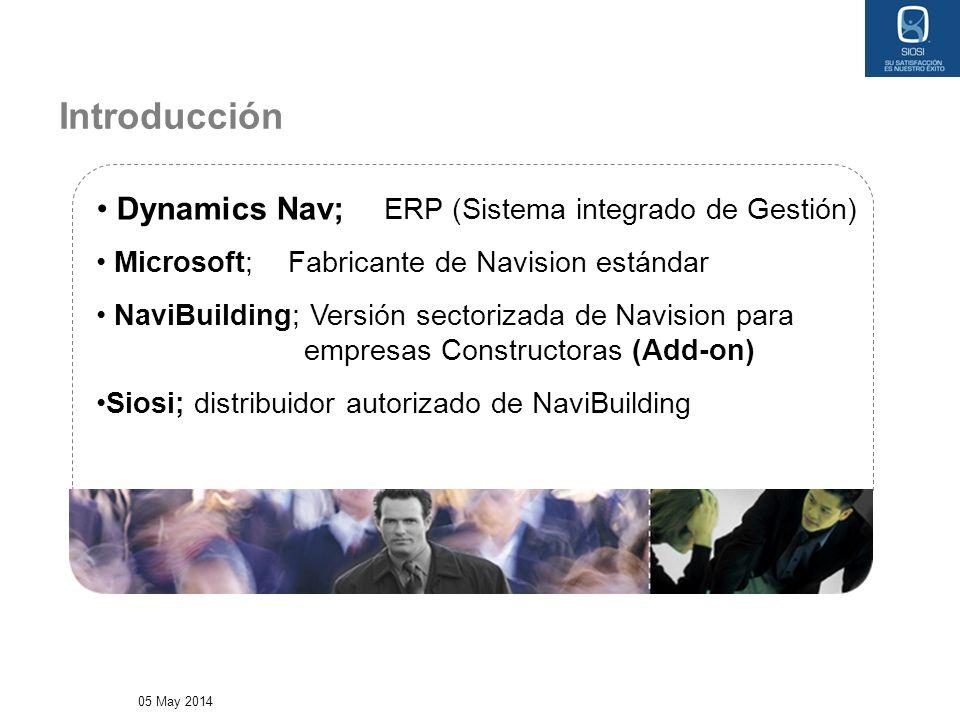05 May 2014 Dynamics Nav; ERP (Sistema integrado de Gestión) Microsoft;Fabricante de Navision estándar NaviBuilding; Versión sectorizada de Navision p