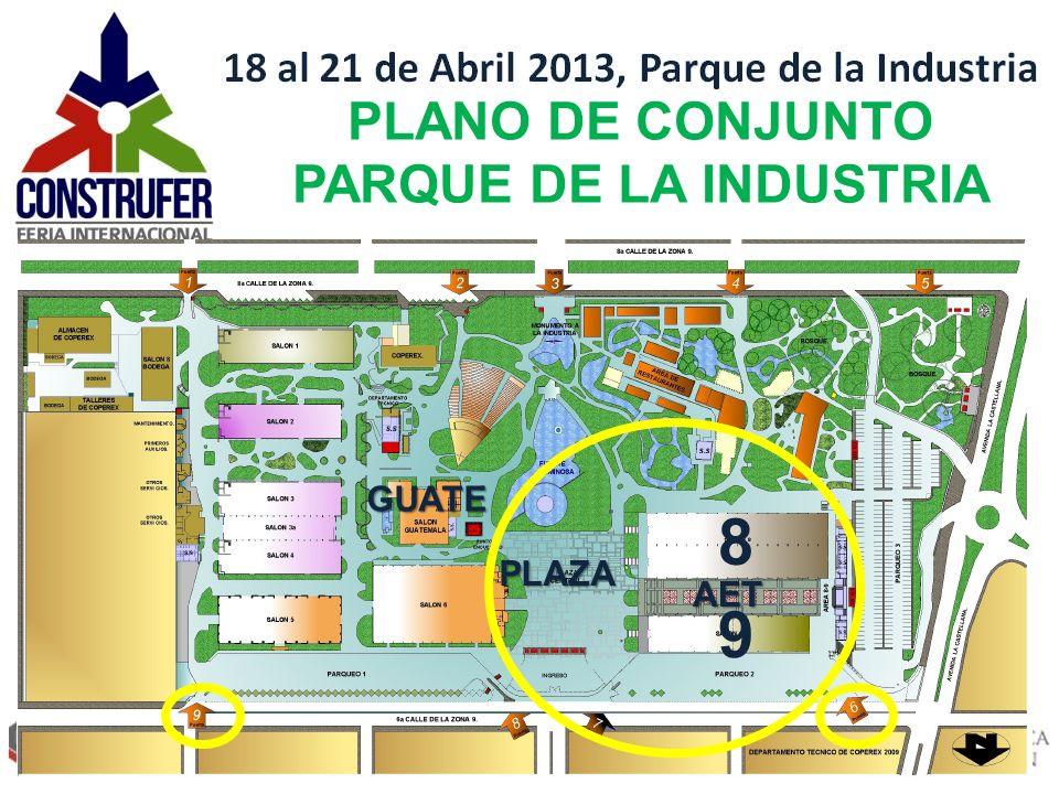 PLANO DE CONJUNTO Jueves 18 – domingo 21 abril 2013, Parque de la Industria