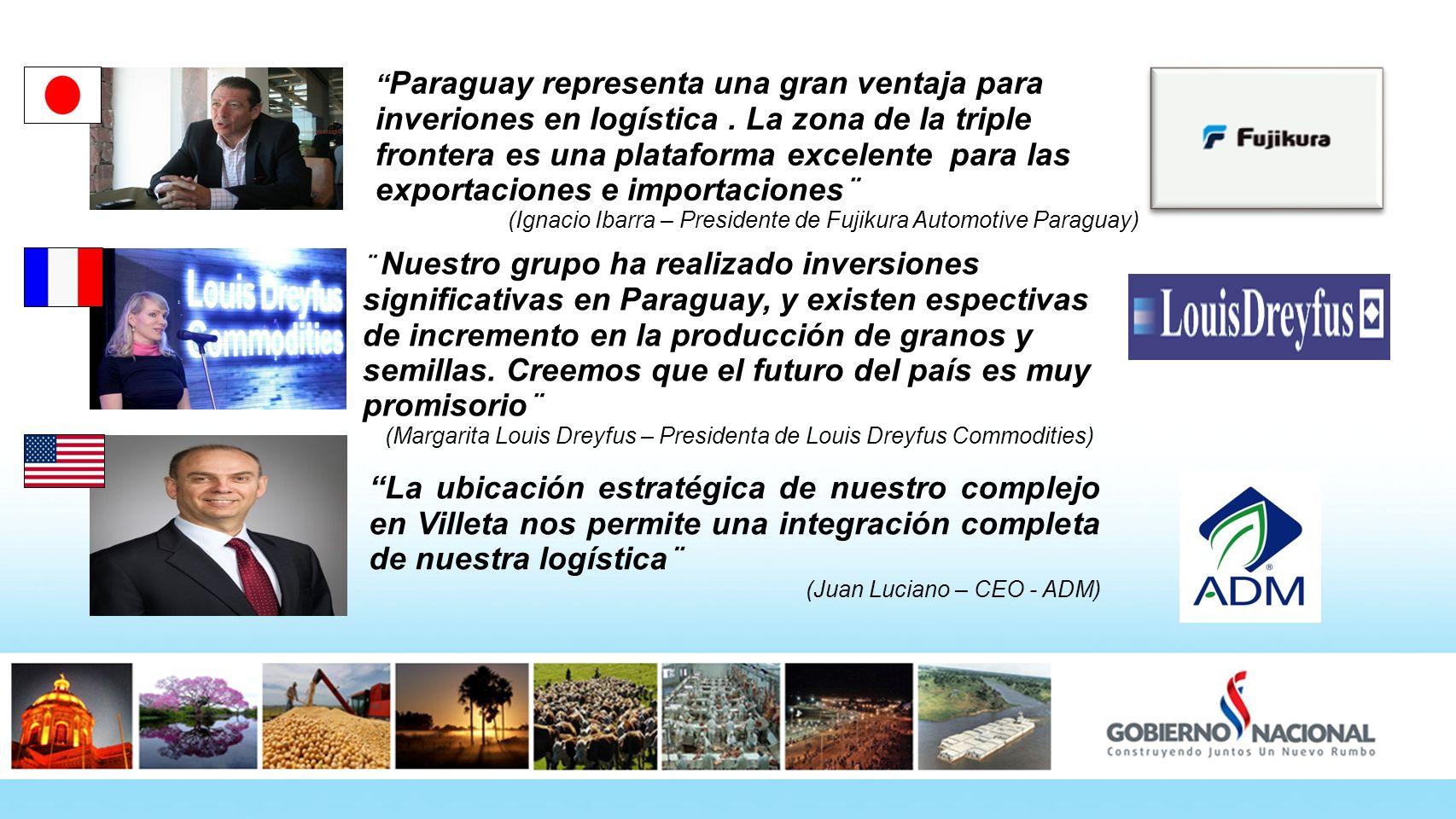 Paraguay representa una gran ventaja para inveriones en logística. La zona de la triple frontera es una plataforma excelente para las exportaciones e